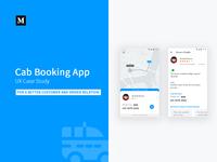 Cab Booking App - UX Case Study