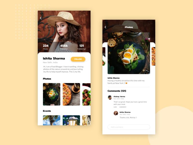 Social Media for Influencers figma app mobile app ui design ux design social media interaction ux ui design