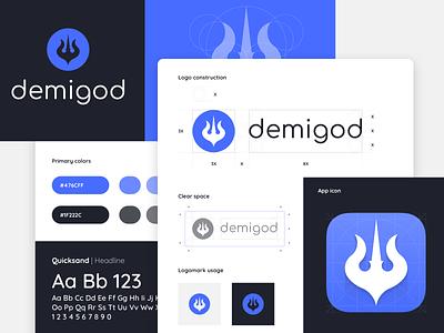 Demigod Visual Brand Identity logo design identity design logo