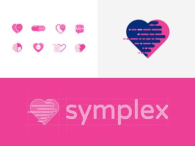 Symplex Logo - Exploration & Construction heart health branding brand logo design identity design logo