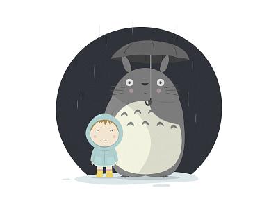 Totoro mail satsuke hayaomiyazaki kidillustration ilustracioninfant ilustracion illustration diseñografico graphicdesign totoro studioghibli