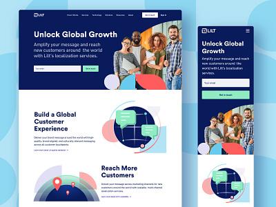 Lilt - Personas Page ui people shapes language translate mobile responsive personas design web website lilt