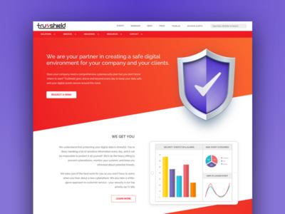 Trushield Landing Page