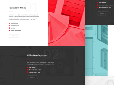 Intrapresa Services Page checkboxes services colors ux ui slices typography website corporate business