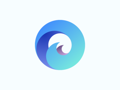 The0cean Logo brand organic circle sea waves tokens logo branding