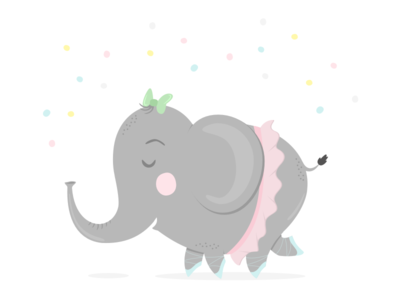 Elephant Illustration printable party elephant illustration print mandarina tango kids