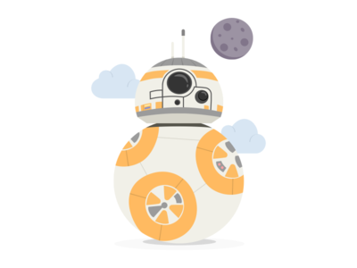 BB8 Illustration print robot printable mandarina tango party bb8 kids star wars
