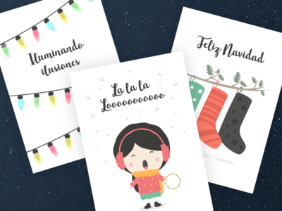 Christmas Postals design print printable party mandarina tango postal kids christmas