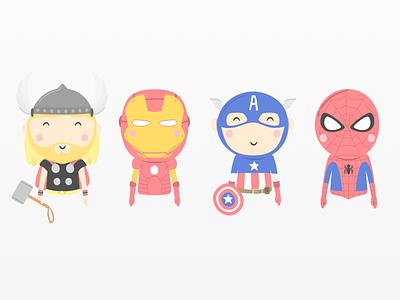 Avengers Illustrations mandarinatango marvel print superhero comic characters kids illustration avengers