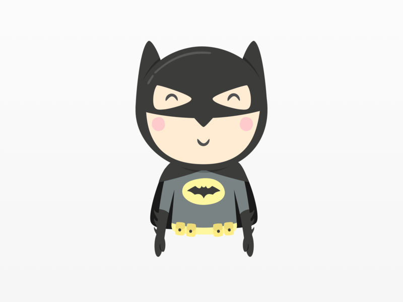 Batman Illustration - Mandarina Tango kids art dc comics superhero dark knight illustration batman cartoon kids