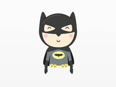 Batman Illustration - Mandarina Tango kids art dc comics superhero dark knight illustration batman cartoon kids