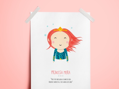Princess Mera - Illustration justice league charachter design kids illustration comic dc mera aquaman design
