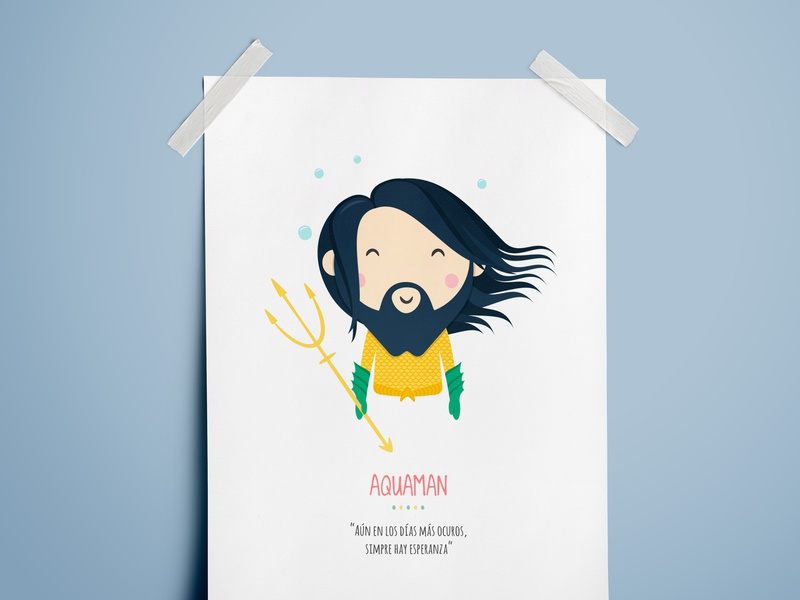 Aquaman Illustration illustration aquaman arthur curry justice league kids dc comics character design design