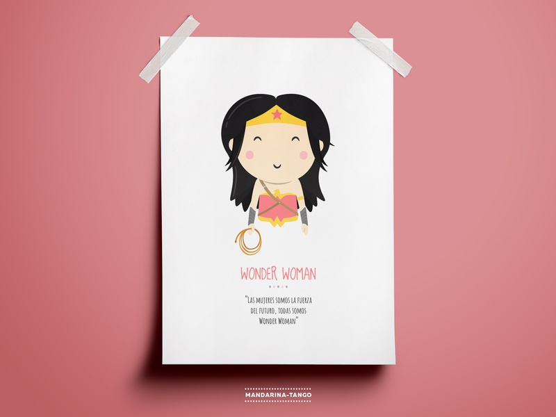 Wonder Woman Illustration kids poster print character graphicdesign superhero character design illustration challenge illustration comics dccomics justice league dc mujermaravilla woderwoman