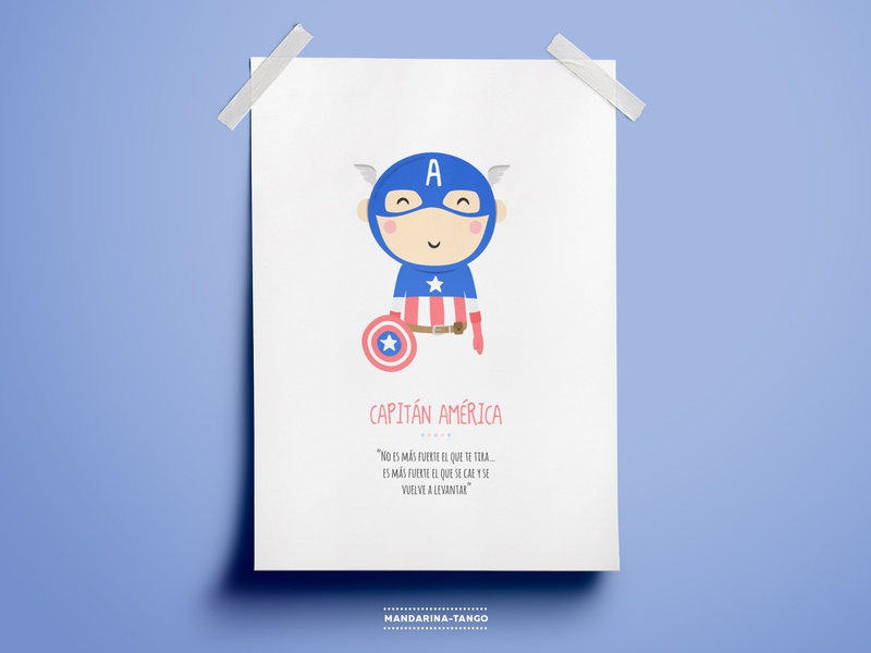 Captain America illustration superhero printable kids poster illustration character los vengadores the avengers justice league marvel marvelcomics captain america