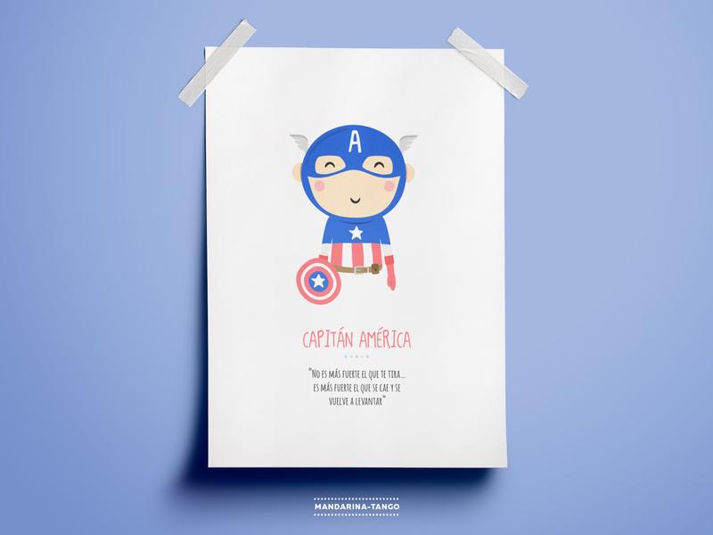 Captain America illustration superhero printable kids poster illustration character los vengadores the avengers justice league marvel marvelcomics captain america