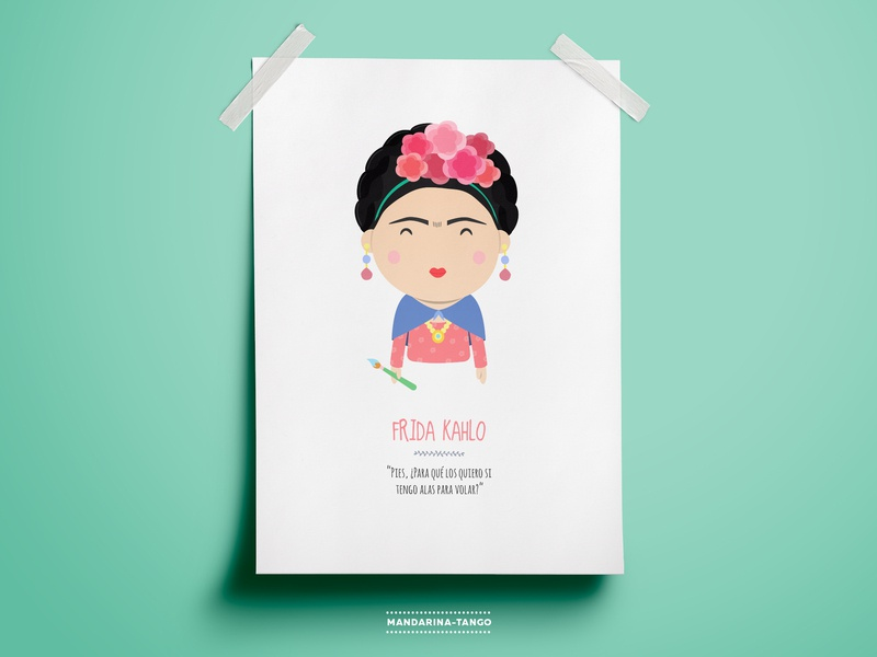 Frida Kahlo illustration character design design artist mexico illustration printable kids art print frida fridakahlo