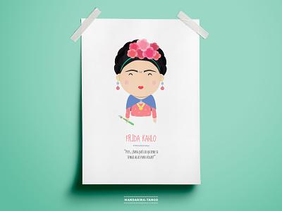 Frida Kahlo illustration character design design artist mexico illustration printable kids art print frida fridakahlo