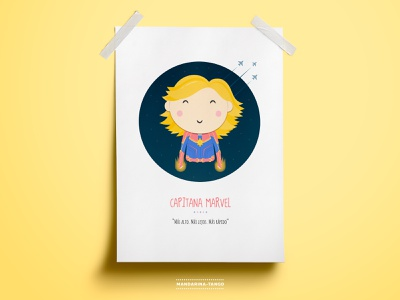 Capitana Marvel character graphic  design poster captain marvel marvel illustration kids design