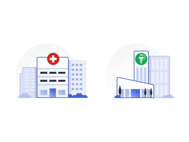 Hospital and Pharma Icons investigation research pharmaceutical pharma hospital iomed medicine medical icons illustration design