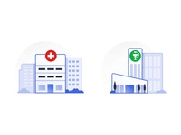 Hospital and Pharma Icons