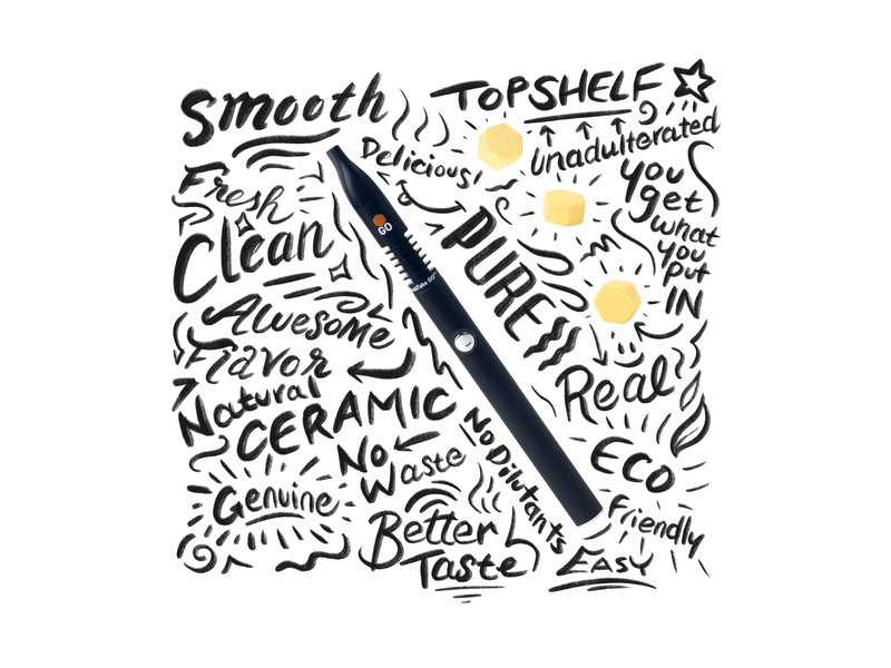 DabTabs Lettering Post illustration doodle vaporizer procreate art handlettering lettering art lettering