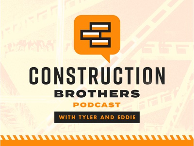 Construction Bros. Podcast (Logo Design) podcast constructionbros construction icon branding logo design vector pantone typography art direction illustration graphic design