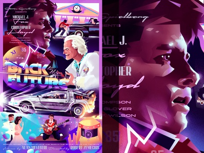 Miles Per Hour afluxintime dcon designercon gallery art movie poster design movie poster doc brown marty mcfly design vector pop culture typography art direction illustration graphic design back to the future