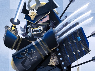Tekko-Kagi (Samurai Wolverine) commission logan wolverine samurai design pop culture art direction graphic design illustration