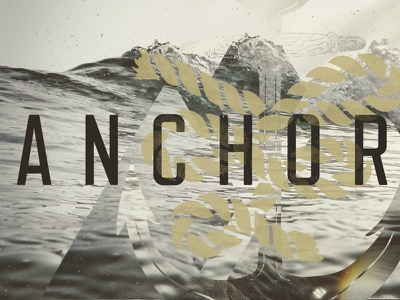Valley Creek Young Adults - Anchored art direction typography graphic design illustration