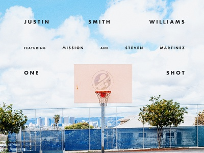 """Just Smith-Williams - """"One Shot"""" Cover Art photography merchandise packaging art direction typography graphic design"""