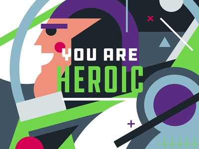 Compliments - Heroic (Buzz Lightyear) typography toy story pop culture pantone illustration graphic design collage art direction