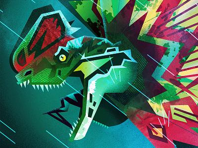 Forewarning textures vector design jurassicpark pop culture art direction illustration