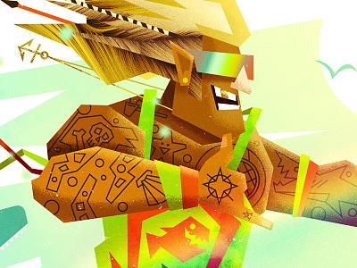Wave Runner aquaman design vector pop culture art direction graphic design illustration