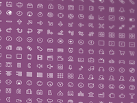 Flat Stroke Icons