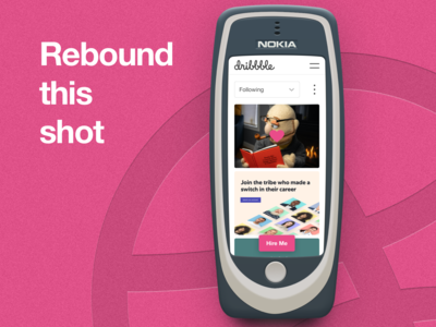 Dribbble Goes Retro simple design simplicity retro design mobile app community community app dribbble best shot playoffs playoff tinyart mobile design mobile ux mobile ui mobile rebounds rebound nokia 3310 nokia dribbbleweeklywarmup dribbble