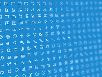 500 Stroke Icons