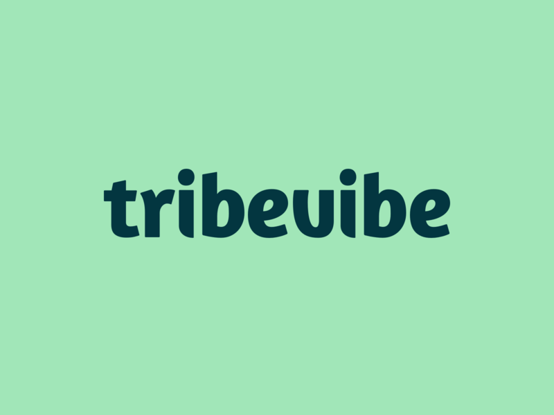 Tribevibe Logotype sustainability traveling brand design sustainable organic natural nature logotype logo logo design lettermark lettering green fresh colors fresh custom type community branding brand identity brand