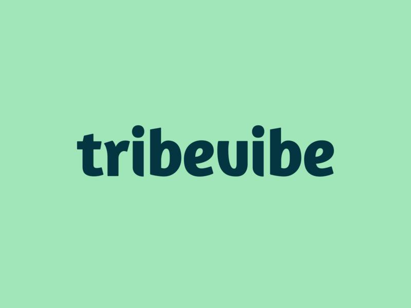 Tribevibe Logotype sustainability traveling brand design sustainable organic natural nature logotype logo logo design lettermark lettering green fresh colors fresh custom type community branding brand identity brand