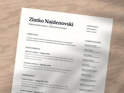 Resume sunset render workspace job application sunset render personal branding personal brand typographic typography serif typeface serif font minimalistic clean minimal cv design resume design resume template resume clean cv resume