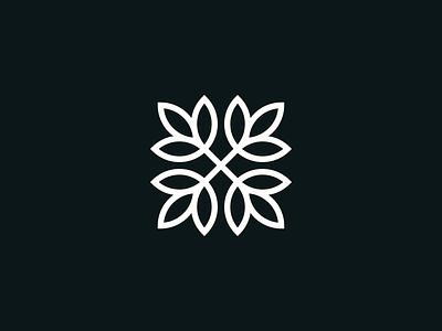 Ensage logomark natural clover cute logomark cute logo simple logomark simple mark leaf organic nature foliage leaves floral logo ornamental ornament floral logo design logo logomark symbol mark