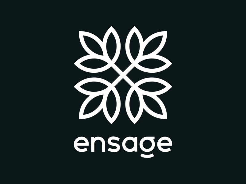 Ensage Full Logo cute logo natural nature organic mark symbol simple logo clean logo logo design foilage clover leaf leaves ornament ornamental floral geometric logomark logotype logo