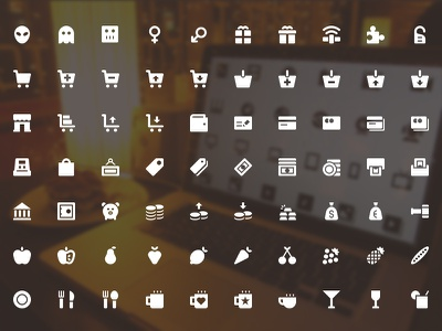 The Icons freebie freebies icons flat arrows commerce emoticons food office science medicine weather