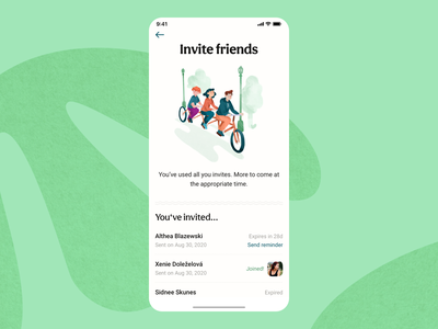 Invite Friends friends trip friendship travel app traveller member community app travel community members referral invitation invite welcome screen splash screen iphone app mobile app mobile design mobile ui mobile ux