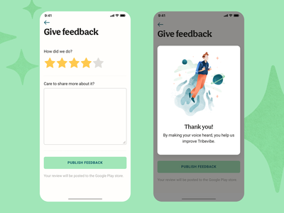 Leave a Feedback illustration watercolor illustration organic green ux research travel app send feedback confirmation window modal window share button share star rating rating stars reference review feedback mobile ui mobile ux mobile app