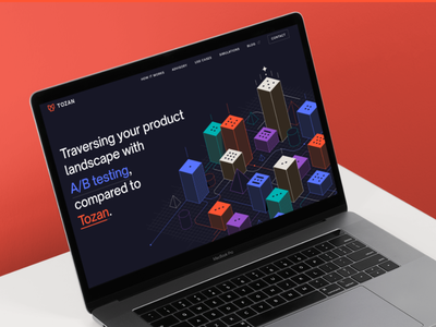 Tozan mobile-first design approach website ai technology graphic design vector simple clean illustrator flat red abstract line illustrations illustrations startup minimal modern landing page ux ui web page