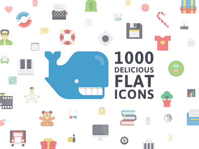 Flatilicious Release flat modern icons colorful business finance fun commerce emoticons office media nature