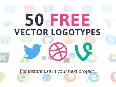 Vector Logotypes fribbble logo social media logotype facebook twitter linkedin dribbble vector freebie vimeo youtube