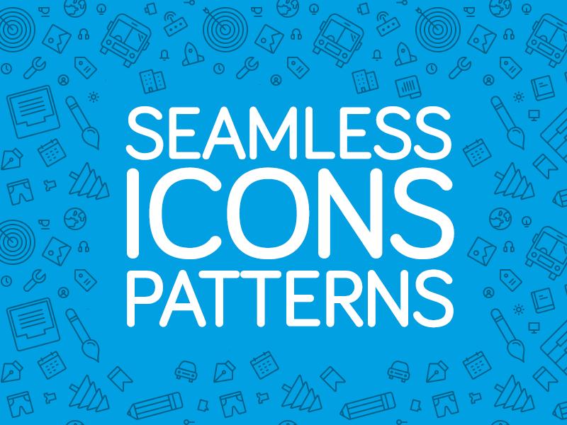 Seamless Icons Patterns pattern icons pattern repeating pattern seamless pattern icon set freebie fribbble