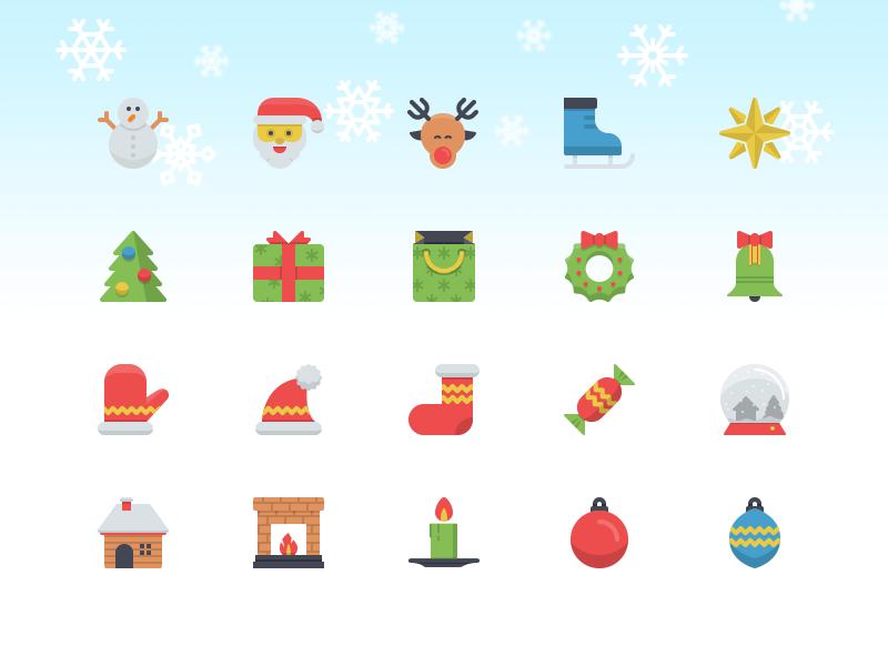 Christmas Flatilicious Icons icons flat icons christmas icons christmas freebie fribbble